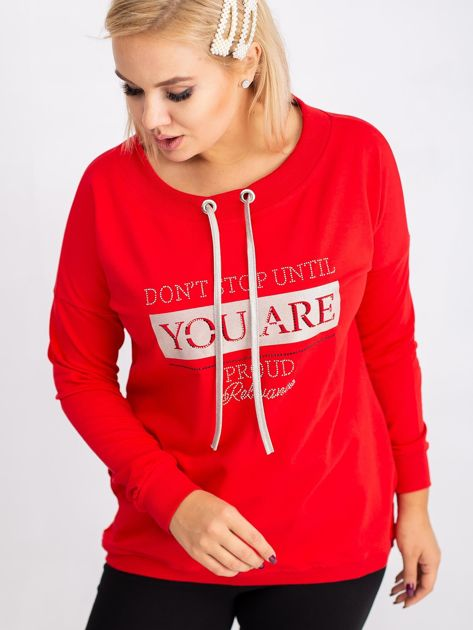 Czerwona bluza plus size Twinkle                              zdj.                              1