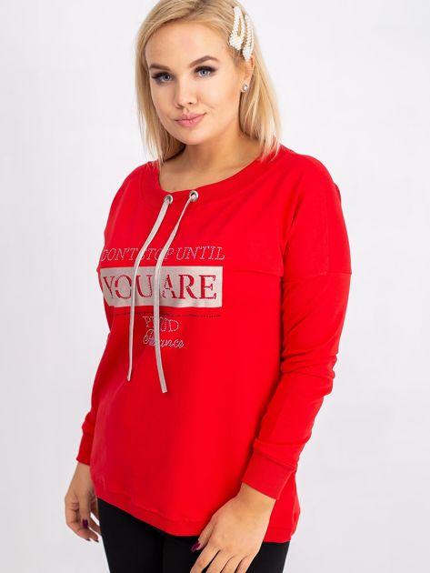 Czerwona bluza plus size Twinkle                              zdj.                              5