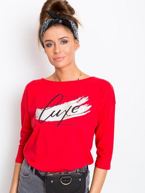 Czerwona bluzka Luxe