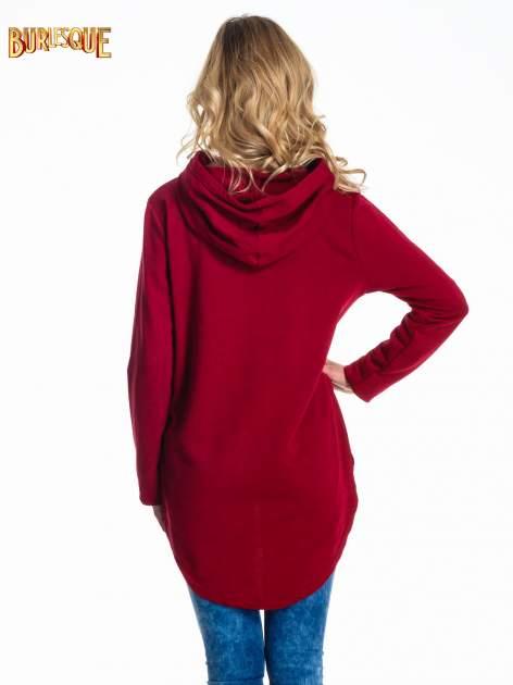Czerwona damska bluza z kapturem i napisem ART                                  zdj.                                  4