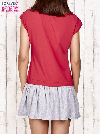 Czerwona dresowa sukienka tenisowa z sercem                                  zdj.                                  2