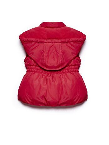 Czerwona kamizelka dla dziewczynki pikowana