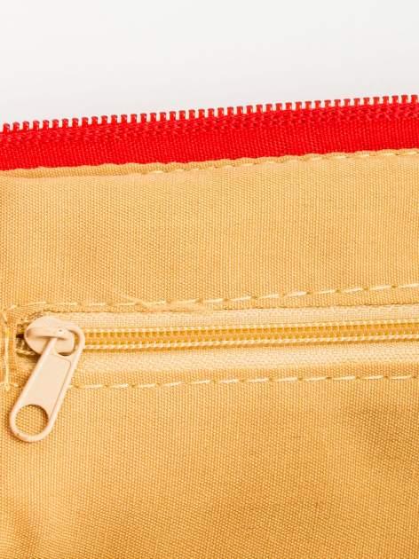 Czerwona kopertówka z dżetami motyw apple                                  zdj.                                  6