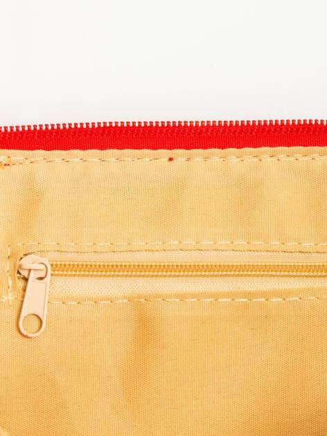 Czerwona kopertówka z dżetami motyw ust                                  zdj.                                  9