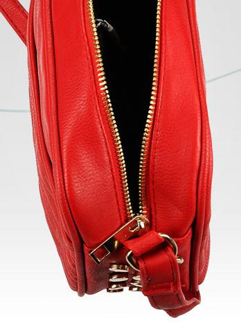 Czerwona mała torebka listonoszka z dżetami                                  zdj.                                  9