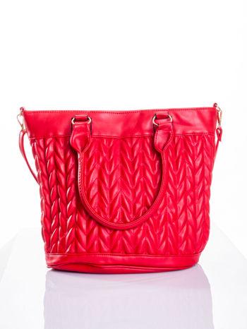 Czerwona pikowana torba na ramię                                  zdj.                                  1