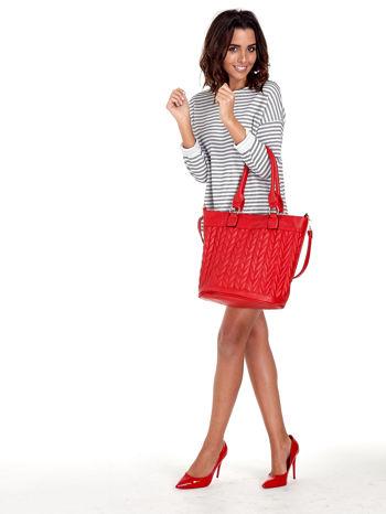 Czerwona pikowana torba na ramię                                  zdj.                                  13