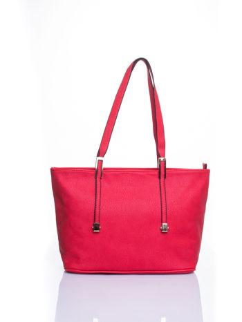 Czerwona prosta torba shopper bag