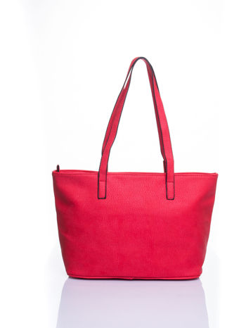 Czerwona prosta torba shopper bag                                  zdj.                                  3