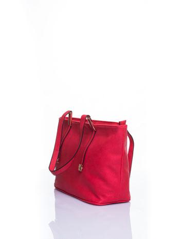 Czerwona prosta torba shopper bag                                  zdj.                                  4