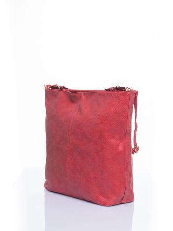 Czerwona siateczkowa torba hobo                                  zdj.                                  4