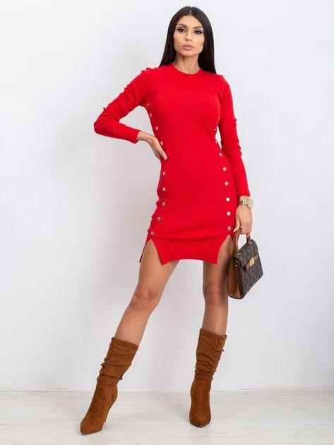 Czerwona sukienka Fabulous                              zdj.                              4