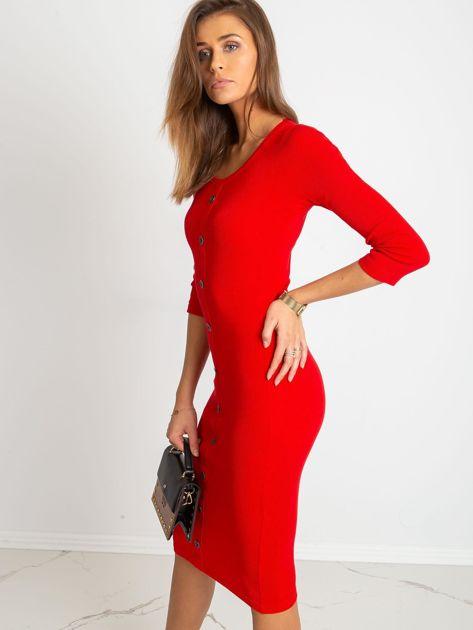 Czerwona sukienka Sting                              zdj.                              3