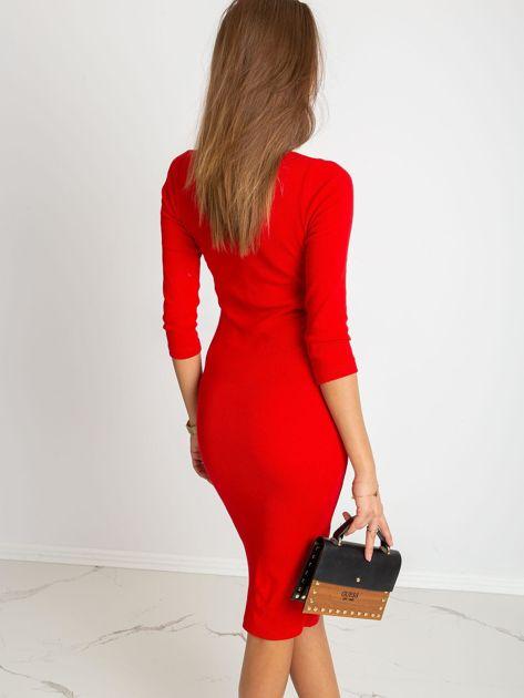 Czerwona sukienka Sting                              zdj.                              2