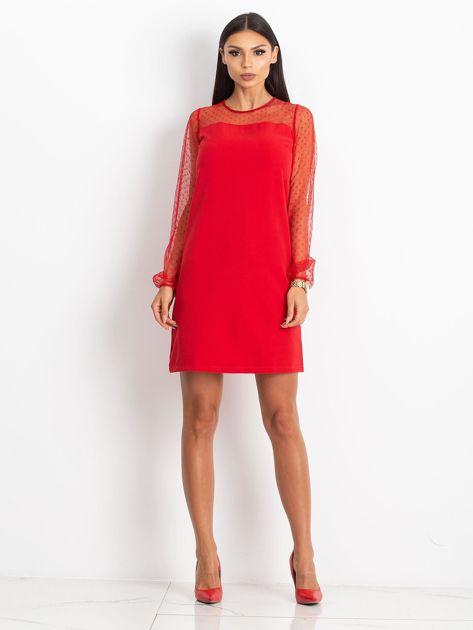 Czerwona sukienka Vanity                              zdj.                              4