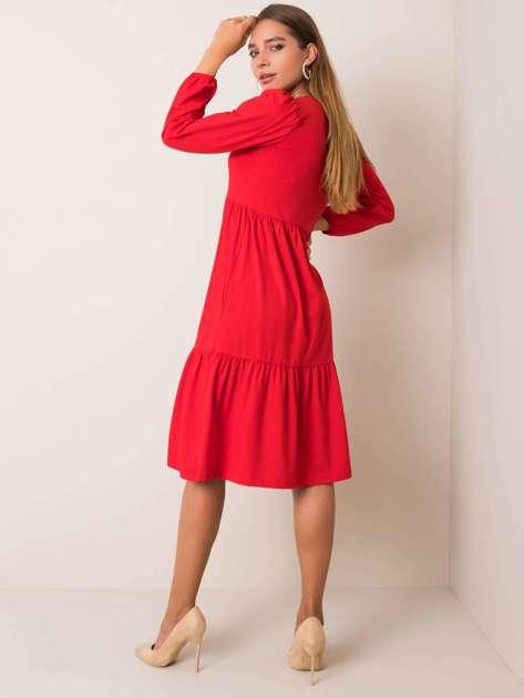 Czerwona sukienka Yonne RUE PARIS