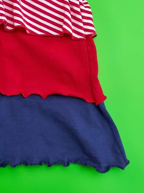 Czerwona sukienka dla dziewczynki z kokardką i falbankami MY LITTLE PONY                                  zdj.                                  6