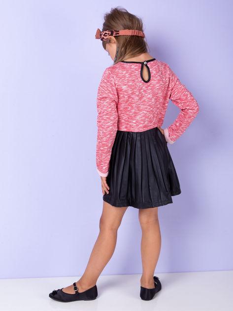 Czerwona sukienka dla dziewczynki z napisem                              zdj.                              5
