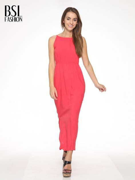Czerwona sukienka w stylu greckim                                  zdj.                                  1