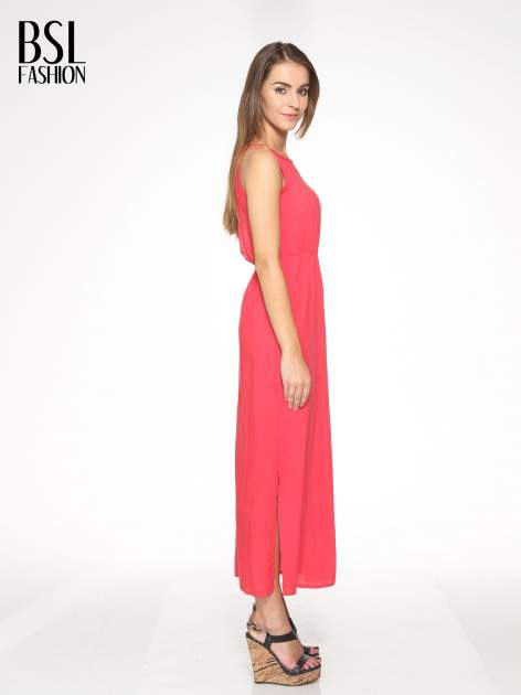Czerwona sukienka w stylu greckim                                  zdj.                                  3
