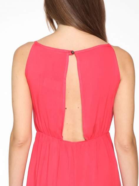 Czerwona sukienka w stylu greckim                                  zdj.                                  5