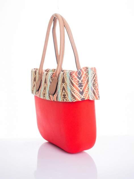 Czerwona torba gumowa z motywem azteckim                                  zdj.                                  3