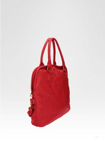 Czerwona torba miejska na ramię                                  zdj.                                  2