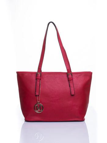 Czerwona torba shopper bag z regulowanymi rączkami