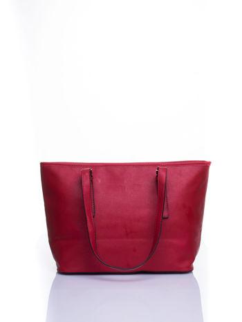 Czerwona torba shopper bag z regulowanymi rączkami                                  zdj.                                  3