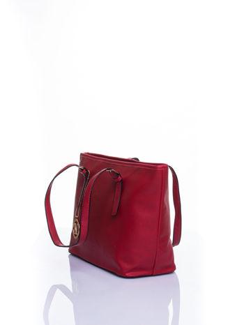 Czerwona torba shopper bag z regulowanymi rączkami                                  zdj.                                  4