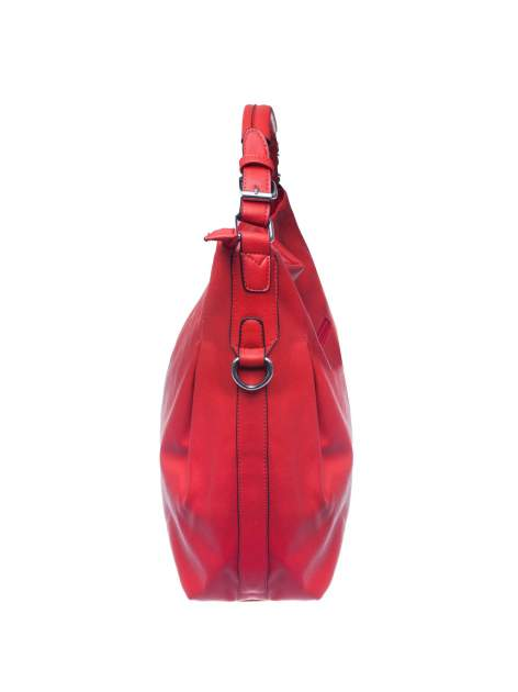 Czerwona torebka hobo na ramię                                  zdj.                                  3