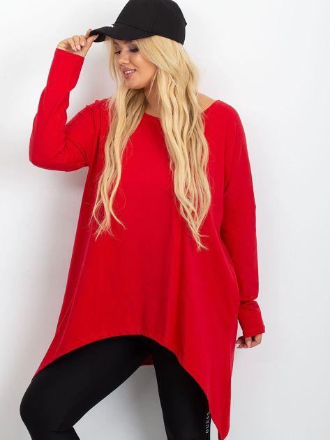 Czerwona tunika plus size Moa                              zdj.                              5