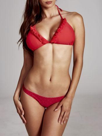 Czerwone figi do kostiumu kąpielowego w kwiatki                              zdj.                              2