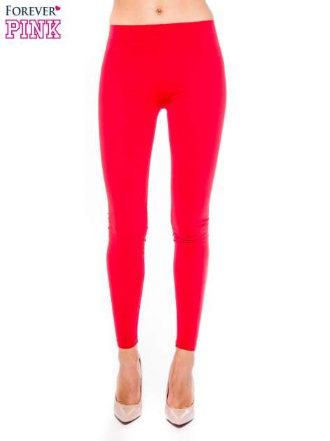 Czerwone legginsy z bawełny