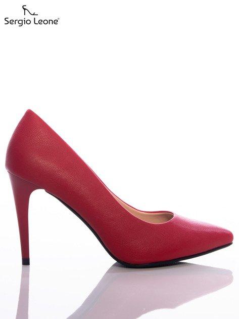 Czerwone matowe szpilki Sergio Leone                                   zdj.                                  1