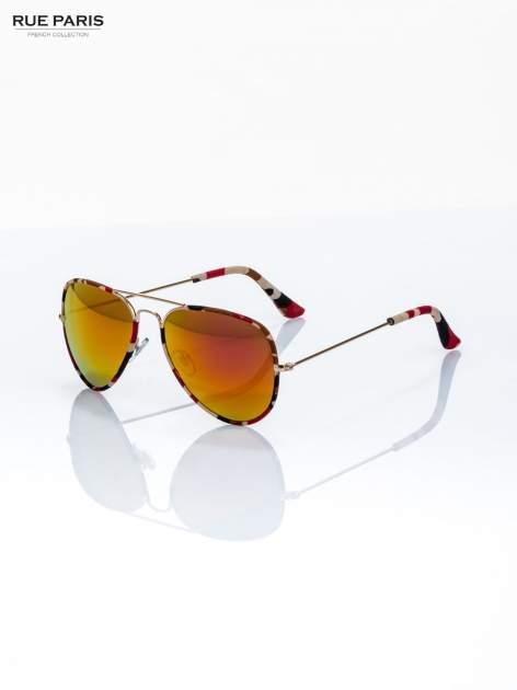 Czerwone moro okulary przeciwsłoneczne pilotki AVIATORY                                  zdj.                                  3