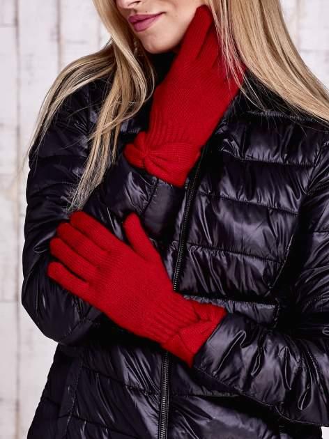 Czerwone rękawiczki z kokardą w stylu retro                                  zdj.                                  1