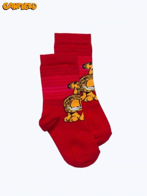 Czerwone skarpetki dla dziewczynki GARFIELD                                  zdj.                                  1