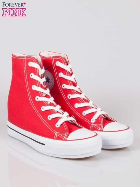 Czerwone sneakersy trampki damskie na koturnie Liliana                                  zdj.                                  2