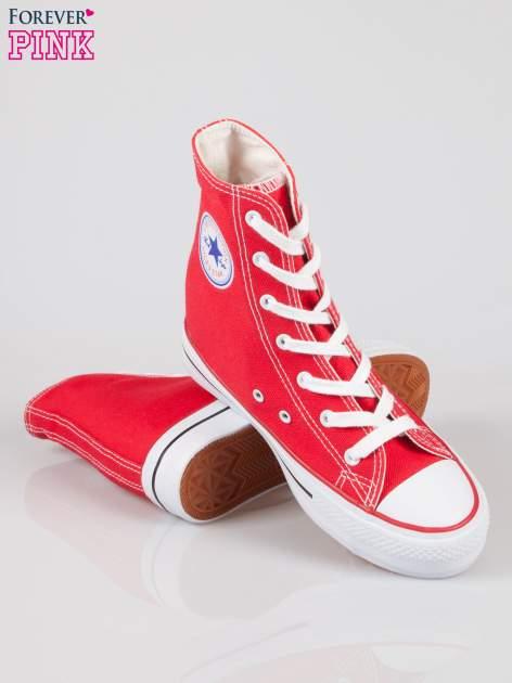 Czerwone sneakersy trampki damskie na koturnie Liliana                                  zdj.                                  4