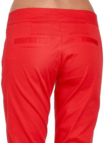 Czerwone spodnie cygaretki w kant                                  zdj.                                  5