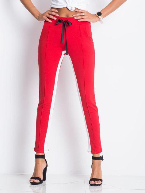 Czerwone spodnie dresowe Defined                              zdj.                              1