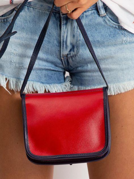 Czerwono-granatowa damska torebka                              zdj.                              4