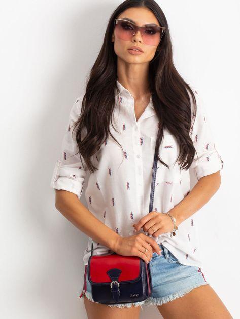 Czerwono-granatowa damska torebka                              zdj.                              1