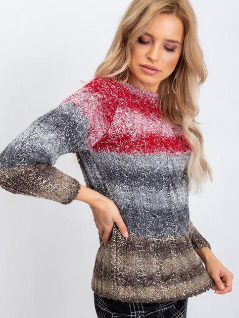 Czerwono-szary sweter Nevermind                              zdj.                              6
