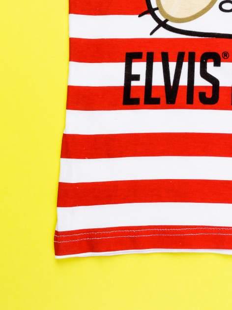 Czerwony komplet do spania dla dziewczynki z nadrukiem ELVIS HELLO KITTY                                  zdj.                                  6