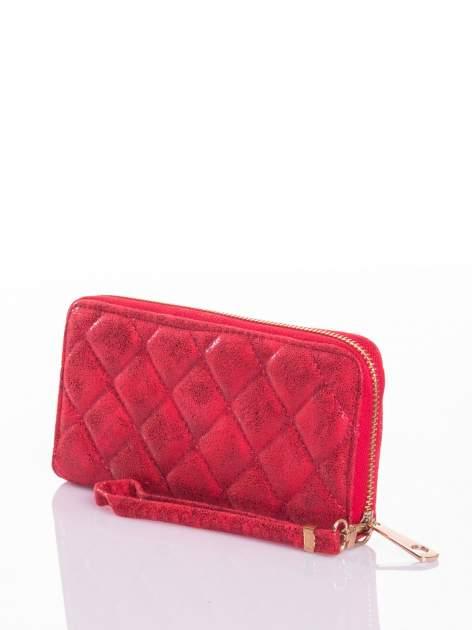 Czerwony pikowany portfel                                  zdj.                                  5
