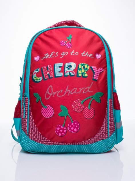 Czerwony plecak szkolny DISNEY w wisienki                                  zdj.                                  1