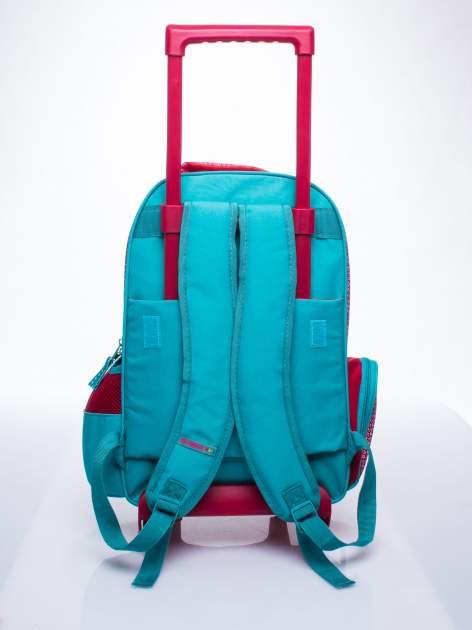 Czerwony plecak szkolny na kółkach walizka DISNEY w wisienki                                  zdj.                                  7