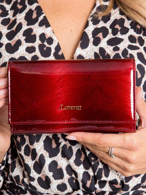 Czerwony podłużny portfel damski ze skóry